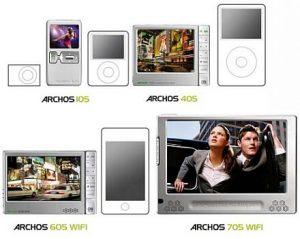 Archos выпустила 5-е поколение своих плееров