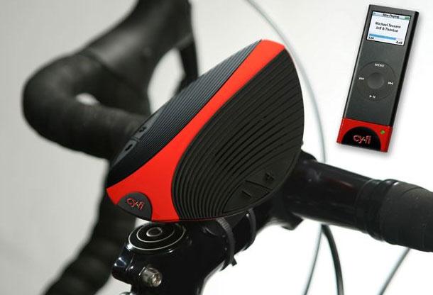 Cy.Fi колонки, беспроводный док для iPod - и все это для велосипеда