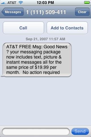 iPhone получит поддержку MMS и мессенджеры?