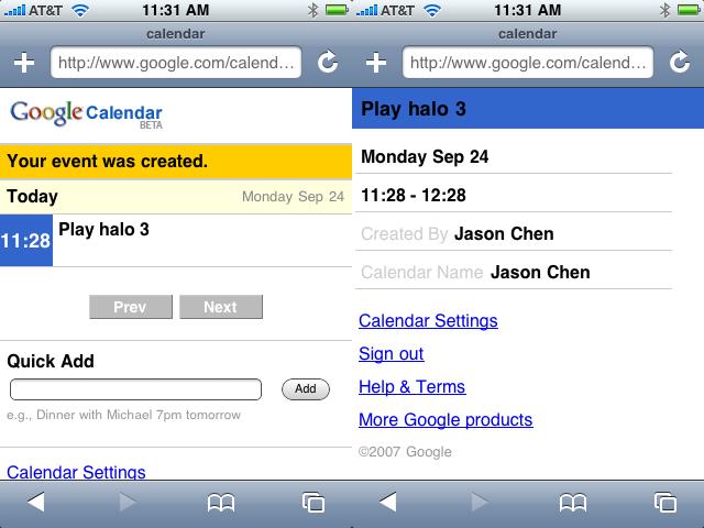 iPhone + Google Calendar = организация-на-ходу