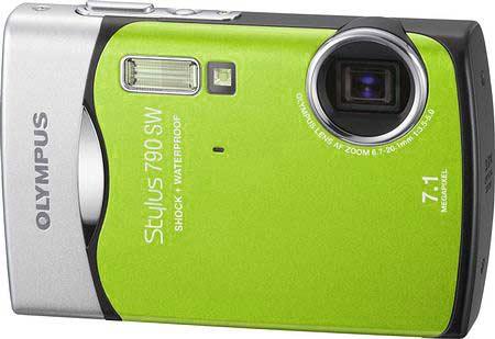 Olympus µ 790 SW Lime Green:камера в эксклюзивном цвете