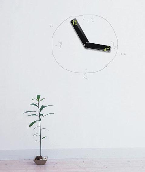 "Новая концепция настенных часов - ""Vice Versa"""