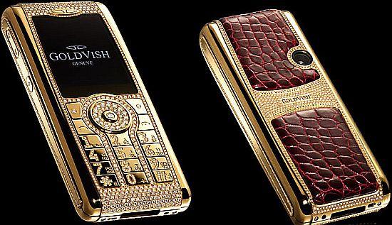 Золотой телефон с бриллиантами и крокодильей кожей за 1млн.евро!!!