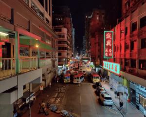 ночной снимок улицы