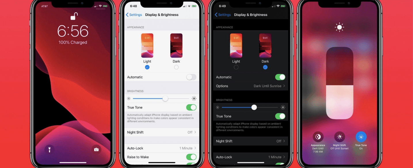 dark mode на iPhone
